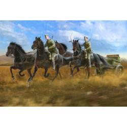 Soviet regimental artillery horse transport (1943-45).