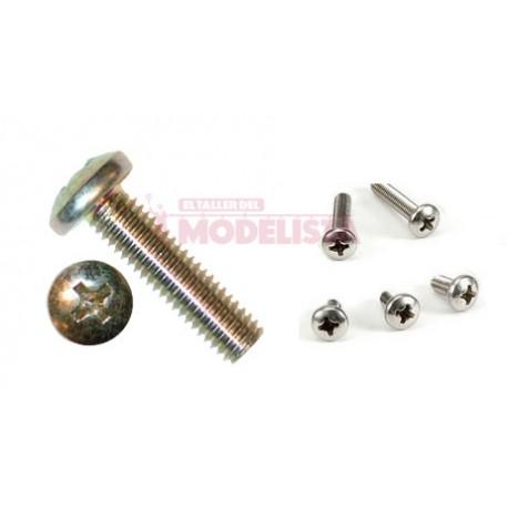 Tornillo de acero DIN7985 (x50). M1,2 x 6 mm