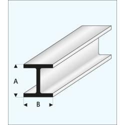 "Channel ""H"" 4,0 x 4,0 mm. MAQUETT 415-56/3"