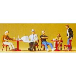 Guests in a cafe.