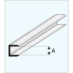 Remate con canal de 1,0 mm. MAQUETT 446-51/3