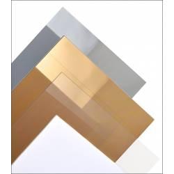 Estireno plateado (espejo) de 1.0 mm (x1). MAQUETT 608-01