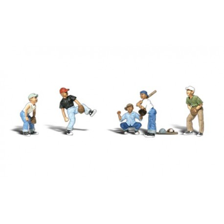 Jugadores de beisbol . WOODLAND SCENICS A1869