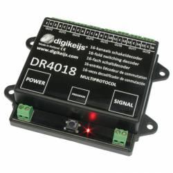 Decoder de accesorios, 16 canales. DIGIKEIJS DR4018