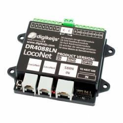 S88N feedback module w/ LocoNet. DIGIKEIJS DR4088LN-2R