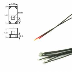 Led SMD 0402 rojo, con cable (x5). DIGIKEIJS DR60048