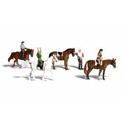 Horseback Riders. WOODLAND A1889