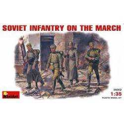 Soviet infantry on the march.