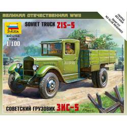 Soviet military 3 ton truck. ZVEZDA 6124