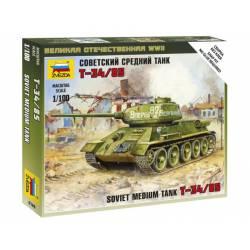 Tanque soviético T-34/85. ZVEZDA 6160