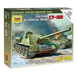 Cañón autopropulsado SU-100. ZVEZDA 6211