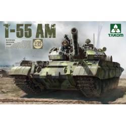 Carro medio ruso T-55AM.