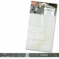 Road markings.