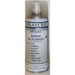 Barniz acrílico en spray brillante.