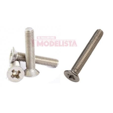 Tornillo de acero DIN965 (x50). M1,2 x 5 mm