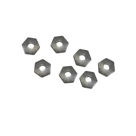 Tuercas de latón niquelado M1 (x50)