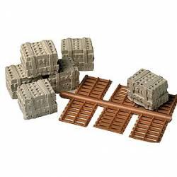 Palés de bloques de hormigón (x6). MODEL RAILSTUFF 940