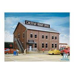 Brick freight office . WALTHERS 933-2953