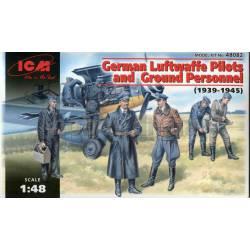 Pilotos alemanes y personal de mantenimiento. ICM 48082