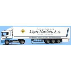 "Scania ""4"" R ""Transportes López Mártinez S.A""."