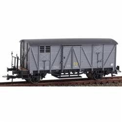 Vagón cerrado con balconcillo J-301793 gris. KTRAIN 0703L