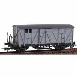 Vagón cerrado con balconcillo J-301793 gris.