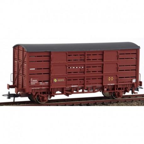 Jaula para ganado, rojo óxido. RENFE. KTRAIN 0705C