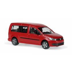 VW Caddy Maxi Bus 2011, rojo.