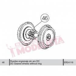 Wheel without traction tyre, DC, for RENFE 316/318/321.