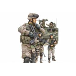 Modern U.S.Army crewman and infantry.