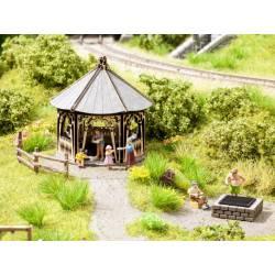 """Scenery Set """"Barbecue Hut"""" .NOCH 65612"""