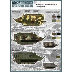 Decal set: Schneider CA-1. FCMODELTIPS 35202