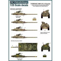 Decal set: AMX-30 in Spain. FCMODELTIPS 35203