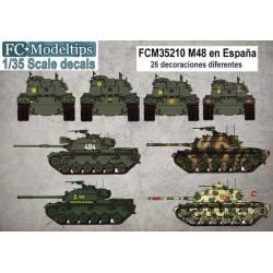 Decal set: M48 in Spain. FCMODELTIPS 35210