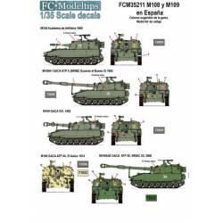 Decal set: M108 y M109 in Spain. FCMODELTIPS 35211