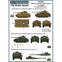 Decal set: Panzer IV y Stug III in Spain. FCMODELTIPS 35204