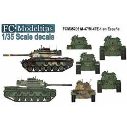 Decal set: M47 in Spain. FCMODELTIPS 35206