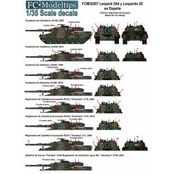 Decal set: Leopard 2A4 and Leopard 2E in Spain. FCMODELTIPS 3520
