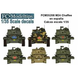 Decal set: M24 Chaffee in Spain. FCMODELTIPS 35208