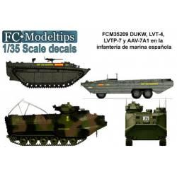 Decal set: Spanish marine landing vehicles.
