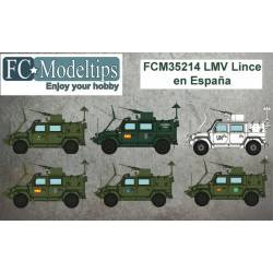 Decal set: LMV Lince in Spain. FCMODELTIPS 35214