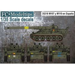 Decal set: M107 and M110 in Spain. FCMODELTIPS 35218