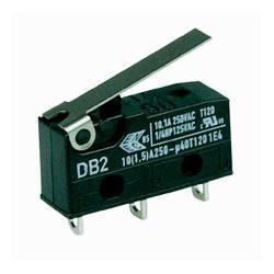 Microrruptor tipo DB2, palanca de 20 mm