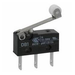 Microrruptor tipo DB2, palanca de 20 mm con rodillo