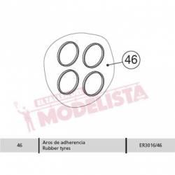Aros de adherencia para 7200/7500 (x4). ELECTROTREN ER3016/46