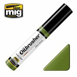Oilbrusher: olive green.