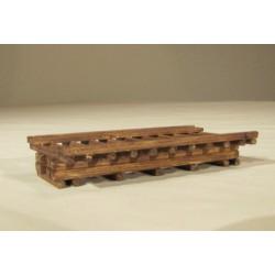 Pasarela de madera. HACK BRUCKEN H010