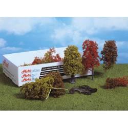 Natural fibre trees, autumnal. HEKI 1634
