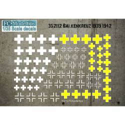 Decal set: Balkenkreuz, 1939-1942. FCMODELTIPS 35212