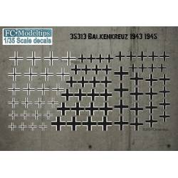Decal set: Balkenkreuz, 1943-1945. FCMODELTIPS 35313